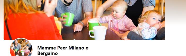 Novità: Mamme Peer Milano e Bergamo su facebook